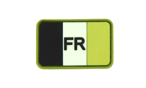 Patch France Flag Forest Rubber JTG