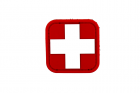 Patch medic rouge blanc MSM
