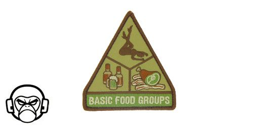 Patch Mil-Spec Monkey - Basic Food Group COLOR