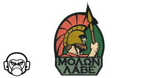 Patch Mil-Spec Monkey - Molon Labe COLOR