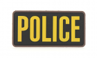 Patch Mil-Spec Monkey Large Police PVC Gold