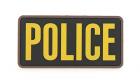 Patch Mil-Spec Monkey Large Police PVC Gold