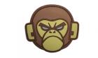 Patch Mil-Spec Monkey Monkey Head PVC Desert
