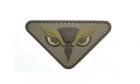Patch Mil-Spec Monkey Owl Head PVC Desert
