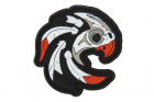 Patch PVC Indian Skull Orange OPS-store
