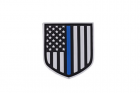 Patch PVC Shield Thin Blue Line BREAKTHROUGH