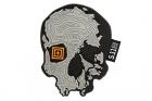 Patch PVC Topo Skull Gris 5.11