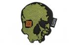 Patch PVC Topo Skull Vert Mosstone 5.11