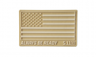 Patch PVC USA FLAG Desert 5.11