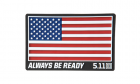 Patch PVC USA Flag Rouge 5.11