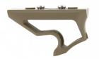 Poignée tactique Angled Grip Short Keymod DE METAL pour réplique airsoft aeg