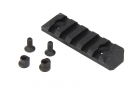 PTS Enhanced Rail Section (Keymod) 5 Slots - Black