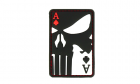 Punisher Ace of Spades Rubber Patch Color