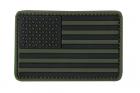 PVC US FLAG PATCH OLIVE DRAB