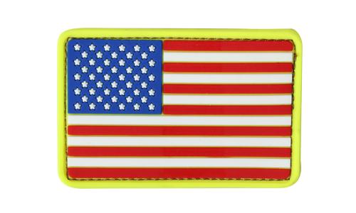 PVC US FLAG PATCH RWB