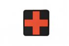 Red Cross Rubber Patch 25mm Blackmedic