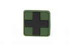 Red Cross Rubber Patch 25mm Forest JTG