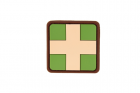 Red Cross Rubber Patch 25mm Multicam JTG