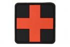 Red Cross Rubber Patch Blackmedic JTG
