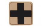 Red Cross Rubber Patch Desert Black JTG
