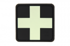 Red Cross Rubber Patch Glow in the Dark JTG