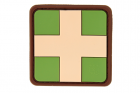 Red Cross Rubber Patch Multicam JTG