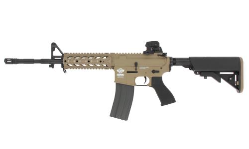 Réplique CM16 Raider-L Bi-tons Tan/Noir G&G Armament AEG