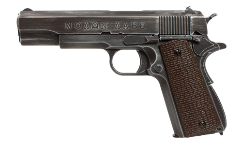 Réplique GBB 1911 Molon Labe Grip marron - AW CUSTOM
