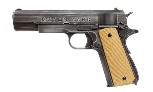 Réplique GBB 1911 Molon Labe Grip tan - AW CUSTOM