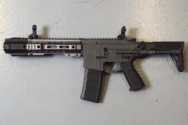 Réplique M4 EMG Salient Arms PDW CQB Gray Custom