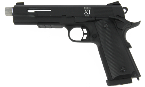 Réplique de poing airsoft 1911 Rudis XI Argent SECUTOR CO2 compatible gaz