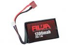 RWA 7.4V 1300mAh (20C) PEQ LiPo Rechargeable Battery (Deans)