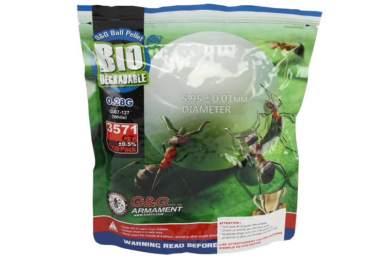 Sachet de 3570 billes 0.28g Bio G&G Armament