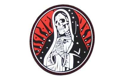 Santa Muerte Rubber Patch Color JTG