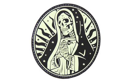 Santa Muerte Rubber Patch glow JTG