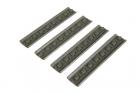 Set of 4 KEYMOD Rail Covers - Olive Drab