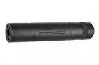 Silencieux aluminium 155mm Knurled Mock noir