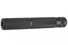 Silencieux aluminium 195mm Knurled Mock noir