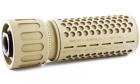 Silencieux QD 556 CQB (14mm CCW) Tan Knight's Armament pour réplique airsoft