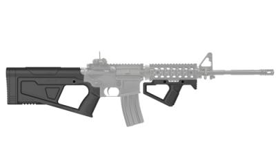 SR Q set ( stock & front grip)-Black