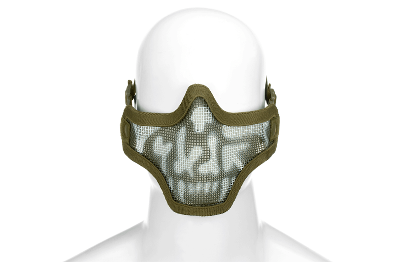 Steel Half Face Mask Death Head OD (Invader Ge