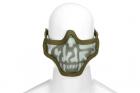 Steel Half Face Mask Death Head OD (Invader Ge