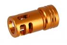 suppressor  caliber:-14mm length:44mm < Gold >