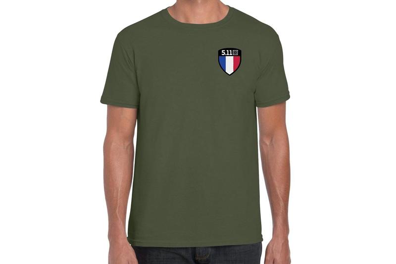 T-shirt Flag Shield France 2020 Limité 5.11
