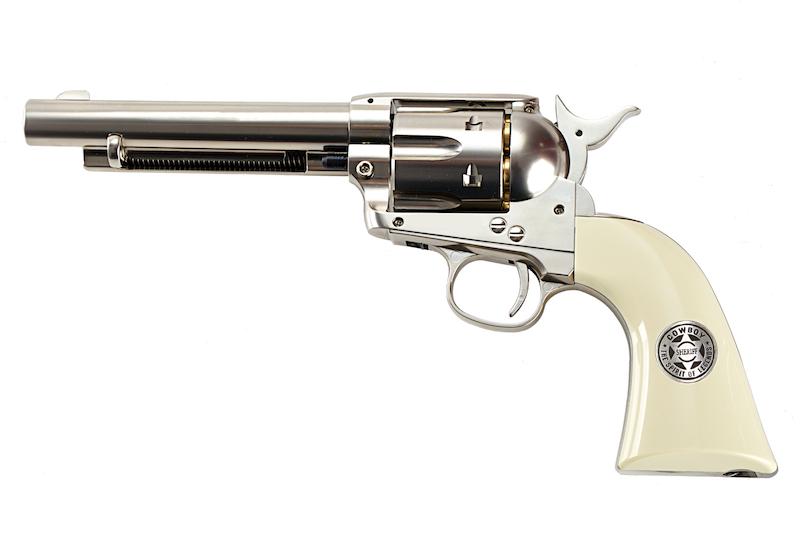 Umarex SAA .45 Co2 (GK Custom 6mm Version) Metal Revolver (Nickel Pearl) (by WinGun)
