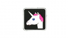 Unicorn Rubber Patch Color