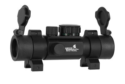Viseur point rouge 4 réticules 1x24 Lancer Tactical