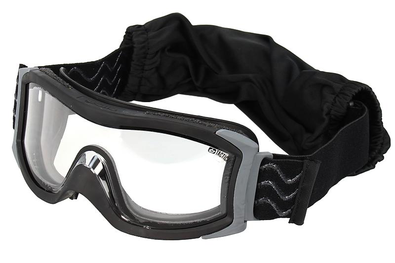 X1000 Masque complet, monture noire, double écran incolore anti-rayures  (extérieur). Loading zoom 6f9a1ff2038b