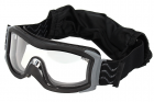X1000 Masque complet, monture noire, double écran incolore anti-rayures (extérieur)